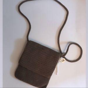 The Sak Classic Woven Crochet Shoulder Purse Bag